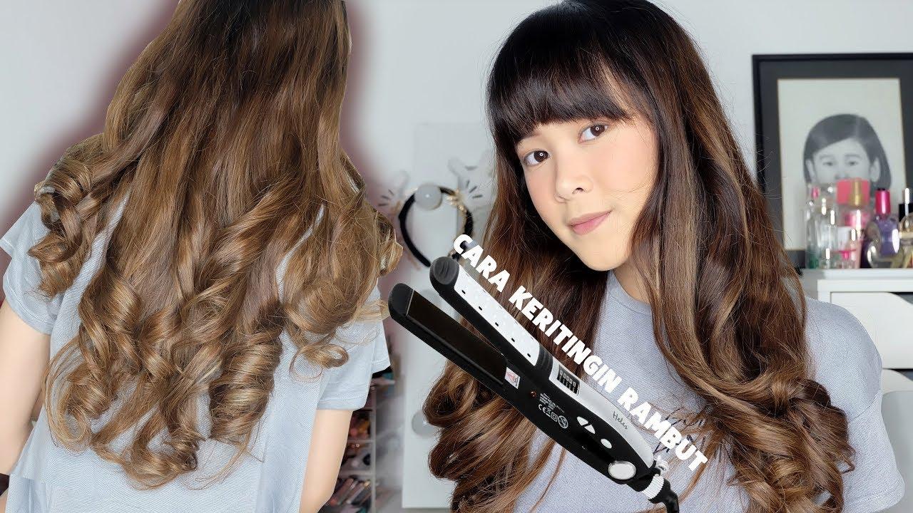 Tutorial Keriting Rambut Dengan Catokan Lurus How I Curl My Hair Almiranti Fira Youtube