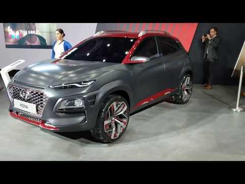 Hyundai Kona Electric SUV in Hindi Auto Expo 2018 MotorOctane