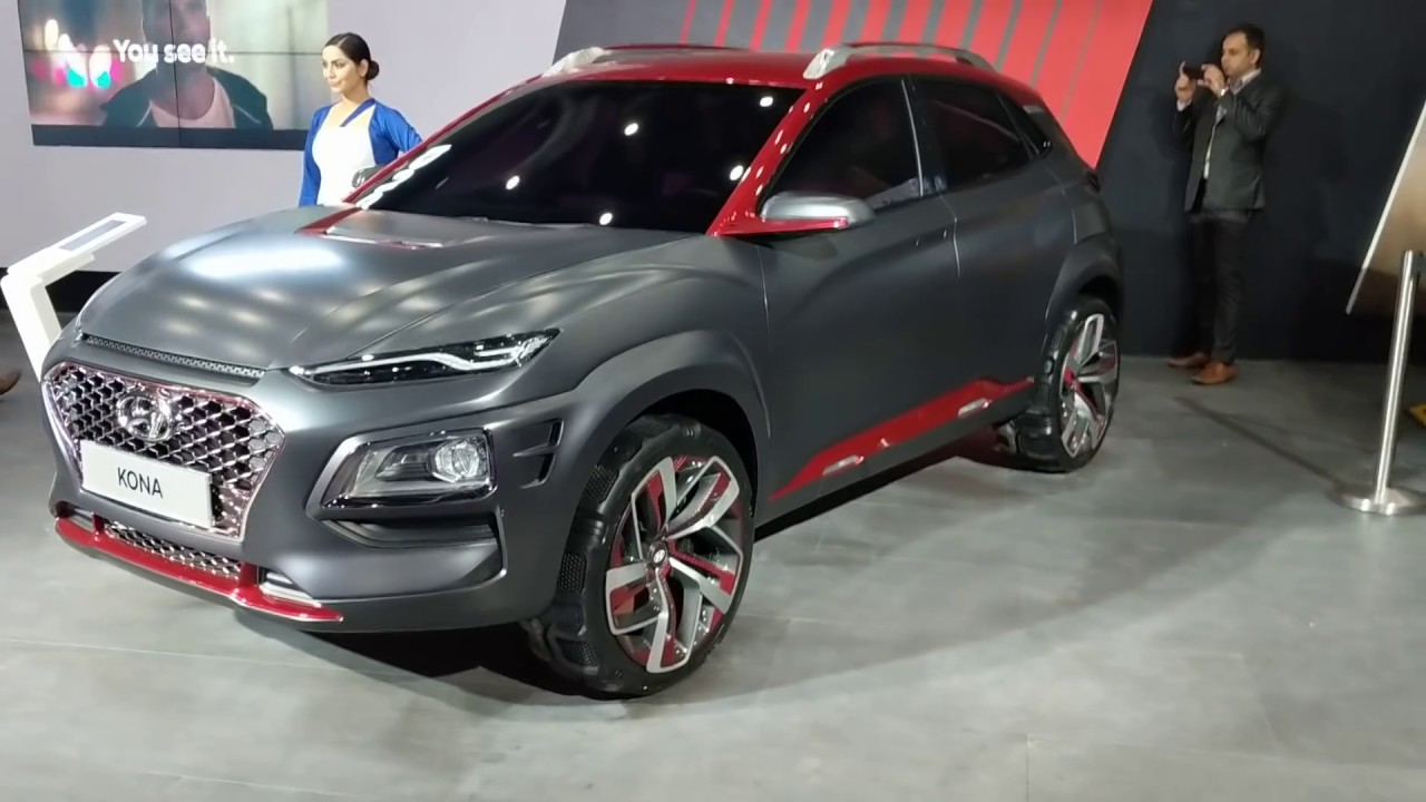 hyundai kona electric suv in hindi auto expo 2018 motoroctane youtube. Black Bedroom Furniture Sets. Home Design Ideas