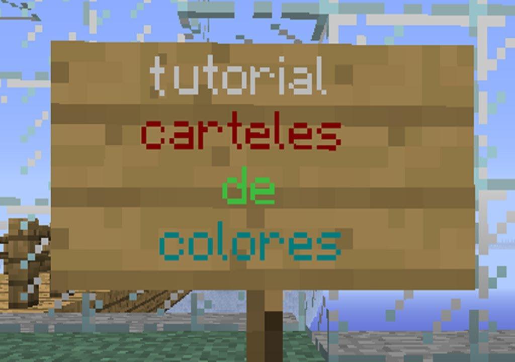 Tutorial ] Minecraft letras de colores en los carteles. NO MOD ...