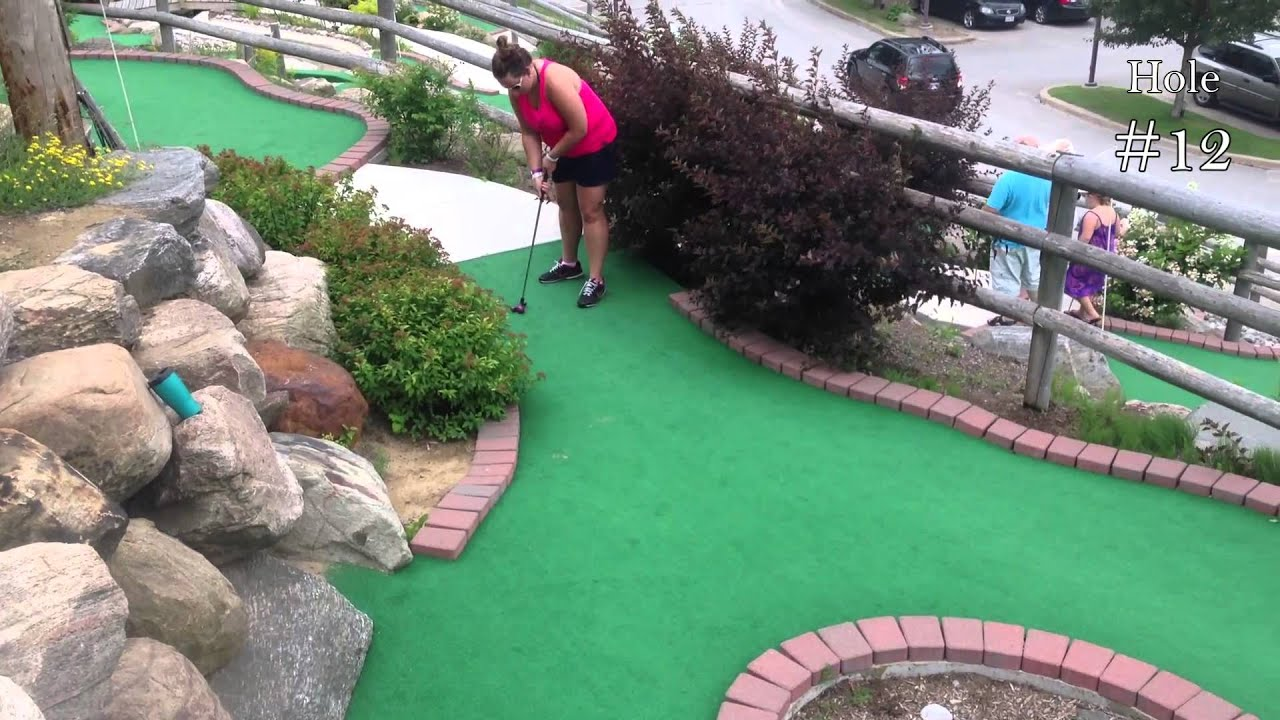 a round of miniature golf in 3 minutes starring shalaine youtube