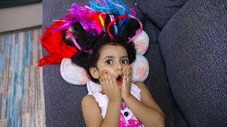 لولو صار شعرها ملون !!! Lulu strange color hair