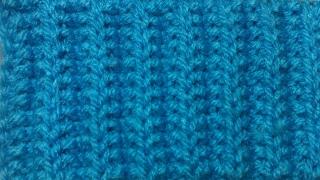 Узор Французская резинка. Видео урок вязание на спицах. Pattern French gum. Video tutorial knitting
