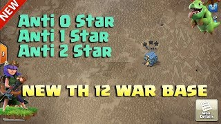 NEW Town Hall 12 (TH12) Anti 2 Star War Base 2019 Anti Dragon Anti E-Dragon | Clash of Clans