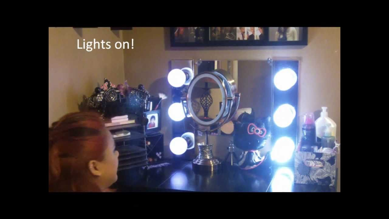 Do it yourself vanity mirror vanity girl starlet inspired youtube solutioingenieria Images