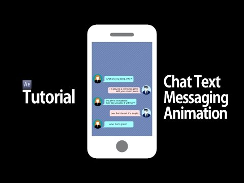 After Effects - Chat Text Messaging Animation Such As KakaoTalk