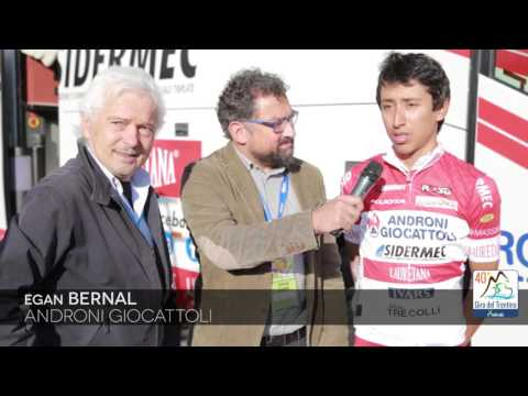 40th Giro del Trentino Melinda: Egan Bernal introduced by Androni-Sidermec's Gianni Savio