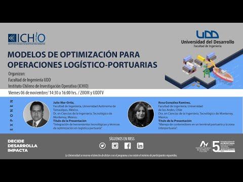 Modelos de optimización para operaciones logístico-portuarias