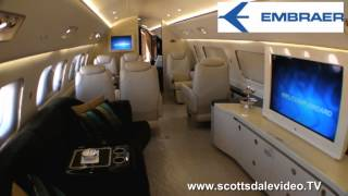 Embraer Lineage 1000 inside  A Large Business Jet Scottsdale Video