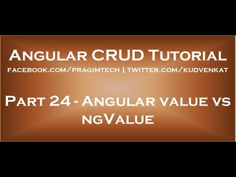 Angular value vs ngvalue