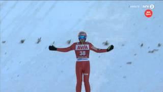 Dawid Kubacki - 205m - Vikersund 2016 - Qualification + norwegian commentary