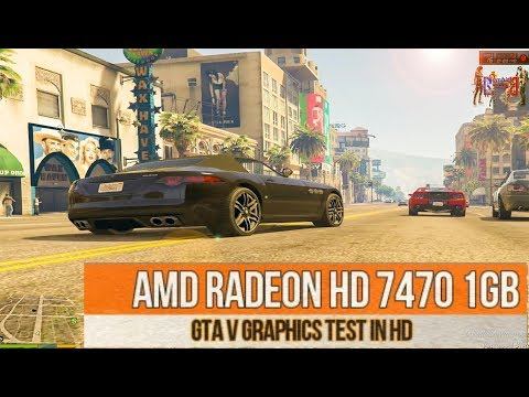 GTA V Graphics Test - AMD RADEON 7470 1gb - Gameplay In HD