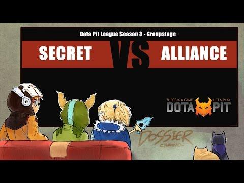 [ Dota2 ] Secret vs Alliance - Dota Pit League Season 3 - Thai Caster
