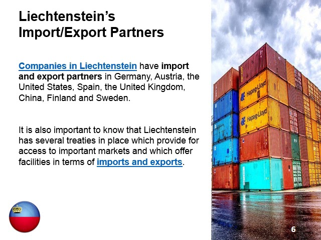 Imports and Exports in Liechtenstein