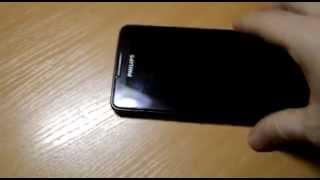 видео Почему белые полосы? Philips Xenium v387