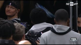Celtics Fan Throws A Bottle At Kyrie Irving's Head