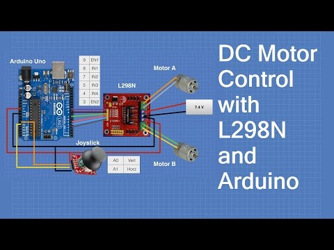 dc motors with l298n dual h bridge and arduino dronebot workshop
