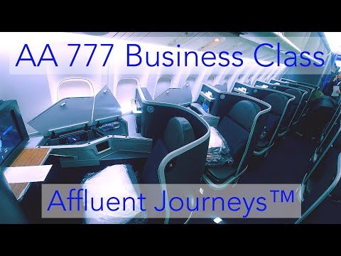 American Airlines 777 Business Class Mia-Bcn