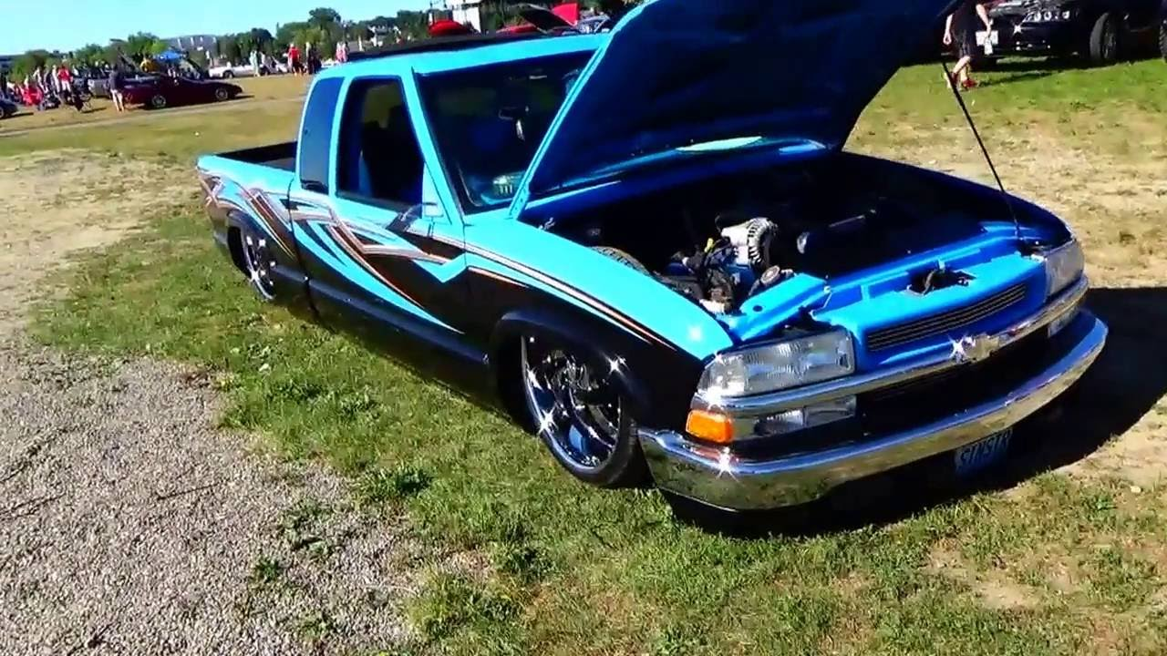 Cool Looking Low 1999 Chevy S10 Truck - YouTube
