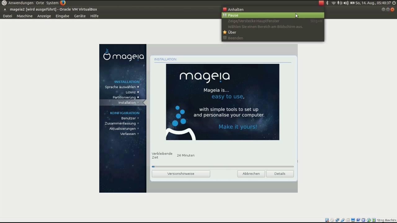Linux Mageia Installation Teil 1 Deutsch - YouTube