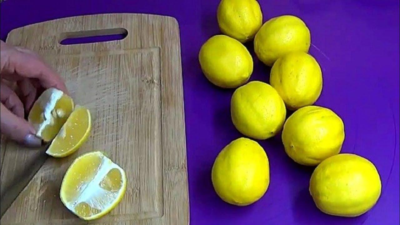 Заморозка лимонов. Самый лучший способ хранения лимонов