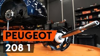 Montering Støtdempere bak PEUGEOT 208: videoopplæring