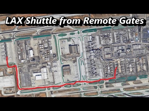 LAX Shuttle From Remote Gates