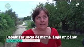 Bebeluș aruncat de mamă lângă un pârâu, imediat după naștere