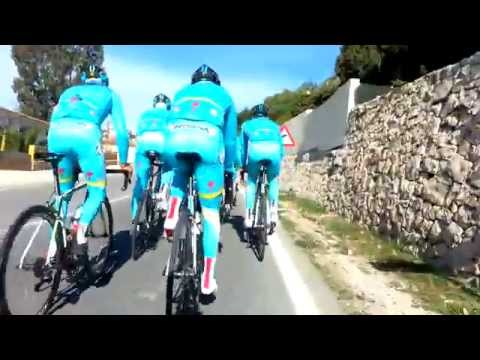 Vincenzo Nibali with Astana on training camp in Calpe