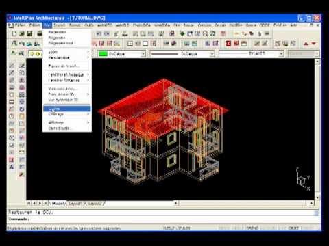 vue en coupe logiciel architecture 3d en dwg tutoriel. Black Bedroom Furniture Sets. Home Design Ideas