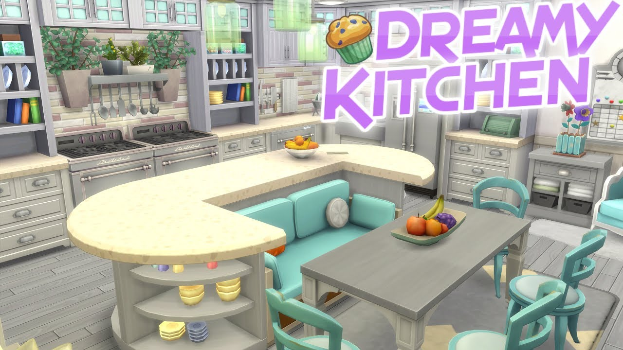 The Sims 4 Parenthood Dreamy Large Kitchen Speed