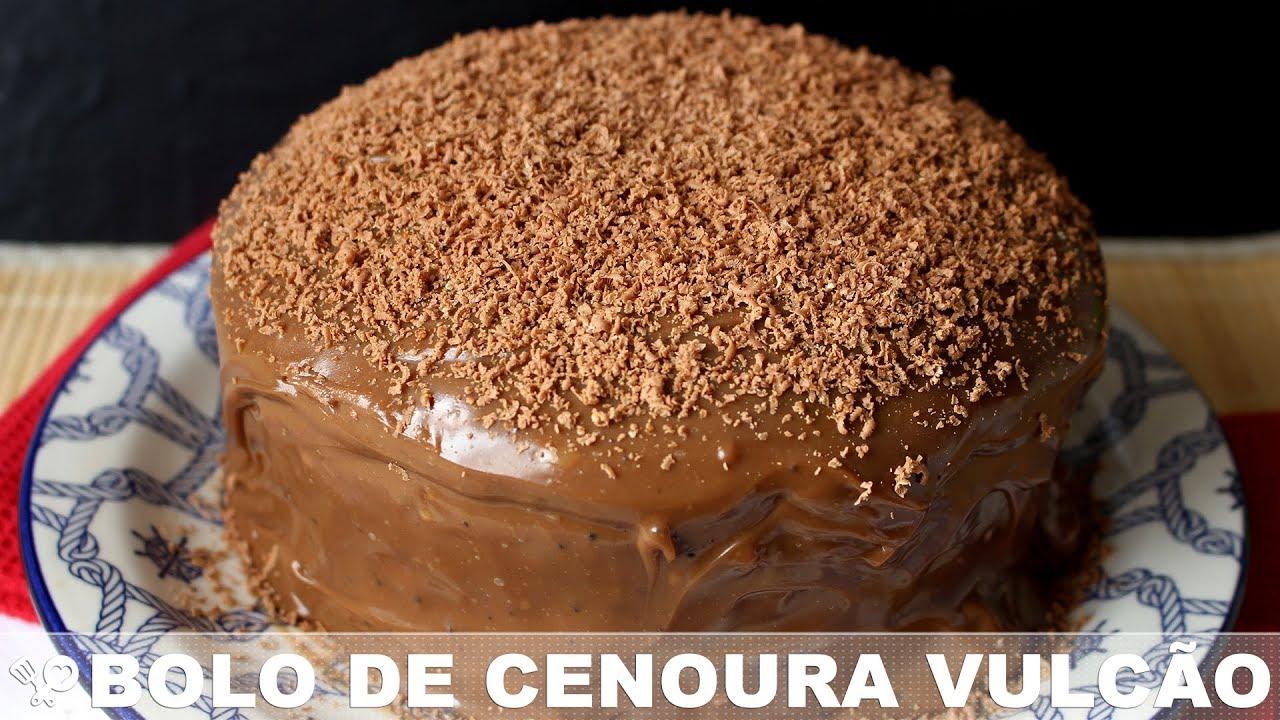 Bolo Vulcao De Cenoura Cook N Enjoy 172 Youtube Bolo De