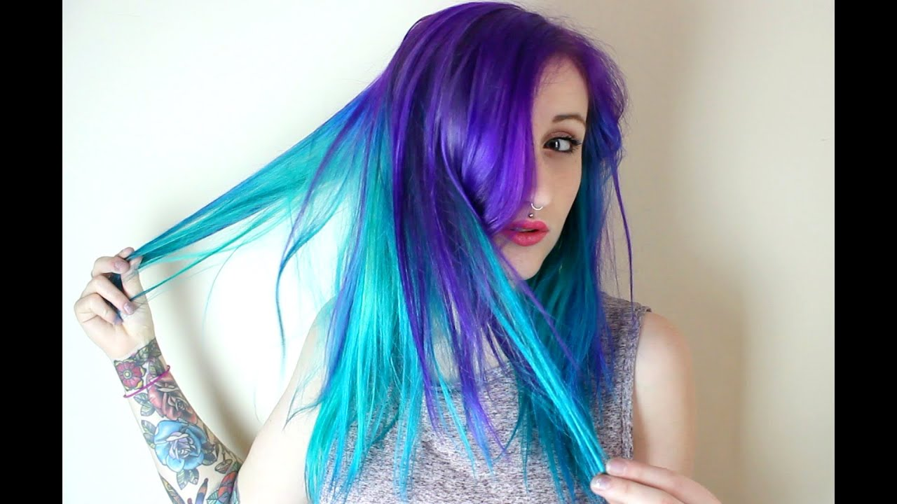 purple rain & turquoise - dye time