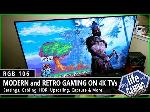 RGB106 :: Modern & Retro Gaming on 4K TVs - Settings, HDR, Upscaling & More / MY LIFE IN GAMING