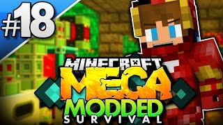 Minecraft MEGA Modded Survival #18 | BUILDING AN IRON MAN SUIT! (Minecraft Mod Pack)