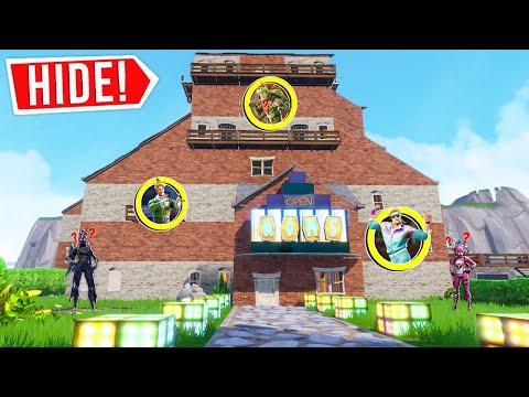 FORTNITE *NEW* GIANT HOUSE HIDE AND SEEK! (Creative Mode)