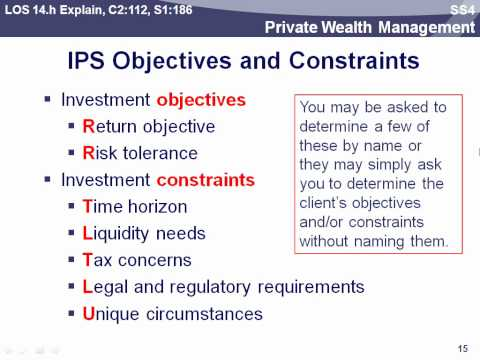 CFA 2012 Level 3- Private Wealth Management  Part 2- Dr. Carl Crego PhD, MBA, CFA,