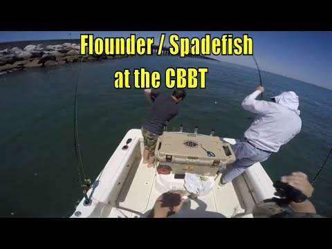 Jigging Flounder And Catching Spadefish At The CBBT