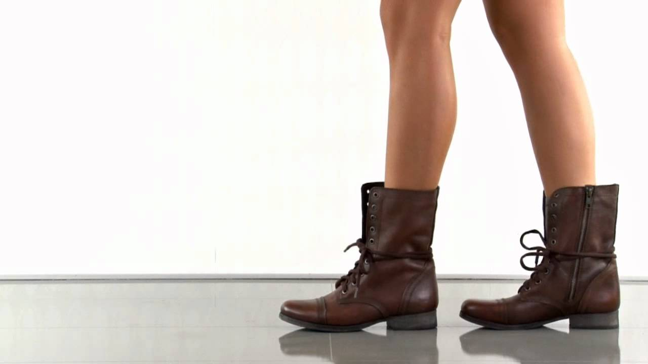 arrives new cheap high fashion Troopa in Brown Leather Steve Madden - YouTube