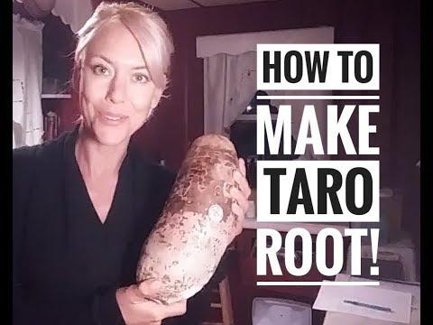 How To Make Taro Root Youtube