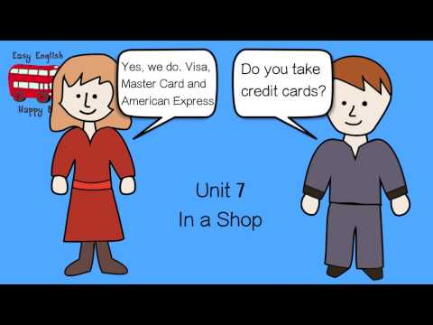 Spoken english lessons - 7: English Conversation. In a shop.