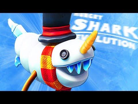 ОТКРЫЛ АКУЛУ СНЕГОВИКА! НОВАЯ АКУЛА???   Hungry Shark Evolution