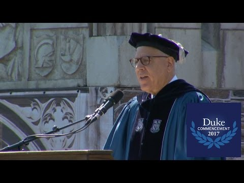 David Rubenstein, Duke University Commencement 2017 Speaker