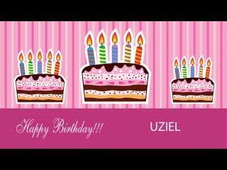 Uziel  Card Tarjeta - Happy Birthday