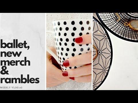 Weekly Vlog #3 - New Ballet Shoes & Brand Merch Sneak Peek