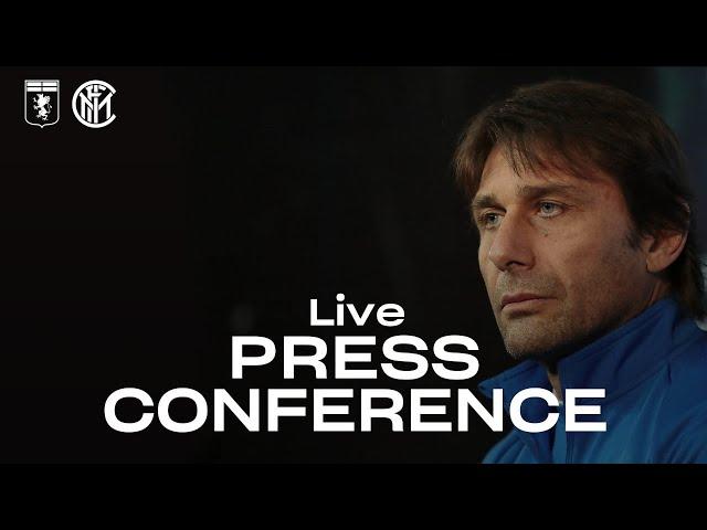 GENOA vs INTER   LIVE   ANTONIO CONTE PRE-MATCH PRESS CONFERENCE   🎙️⚫🔵 [SUB ENG]