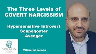 The Three Levels of Covert Narcissism - Hypersensitive Introvert, Scapegoater and Avenger