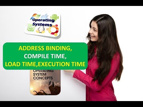 WHAT IS ADDRESS BINDING,COMPILE TIME,LOAD TIME,EXECUTION TIME IN OPERATING SYSTEMS