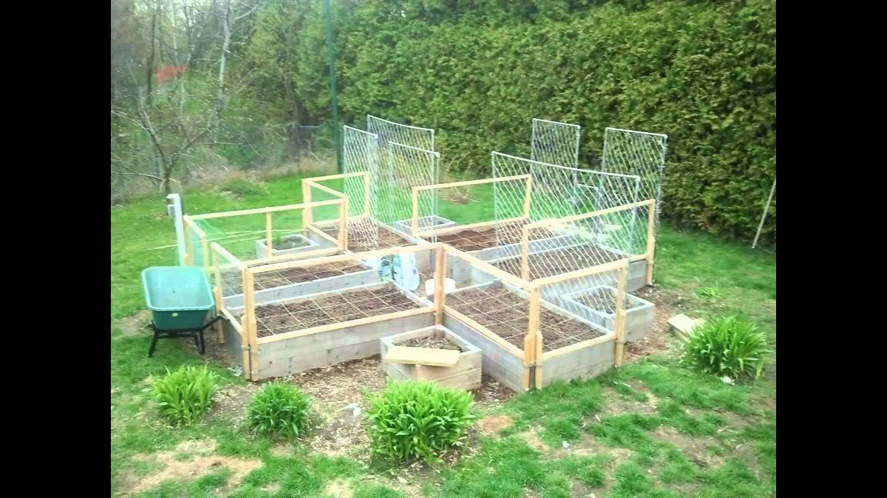 vegetable garden fencing design - youtube