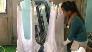 Laundry Garment press uniform lab coat YAC Japan for factory